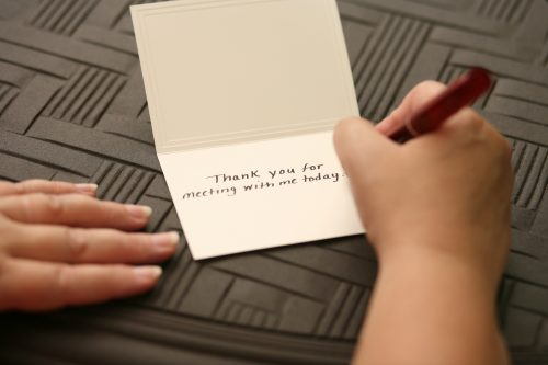 Say Thank You Like you Mean It – with a Thank-You Note